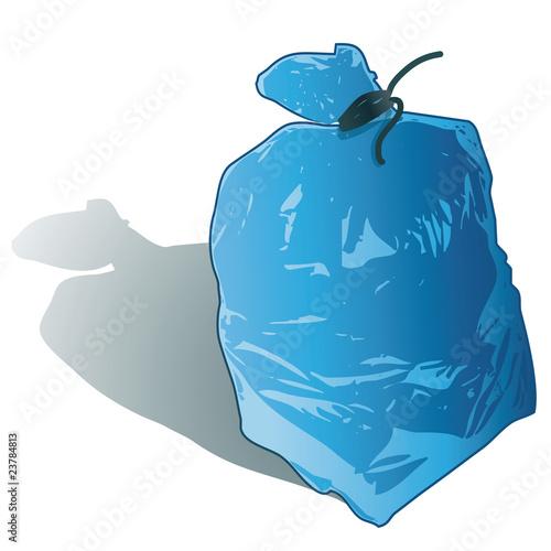 sac poubelle de tri s lectif bleu journaux magazines papiers fichier vectoriel libre de. Black Bedroom Furniture Sets. Home Design Ideas