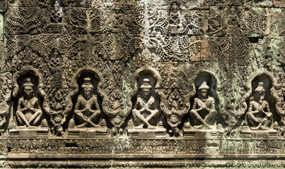 Relief in Angkor, Cambodia