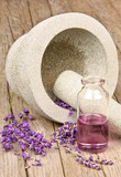 Fototapety Mortar with lavender