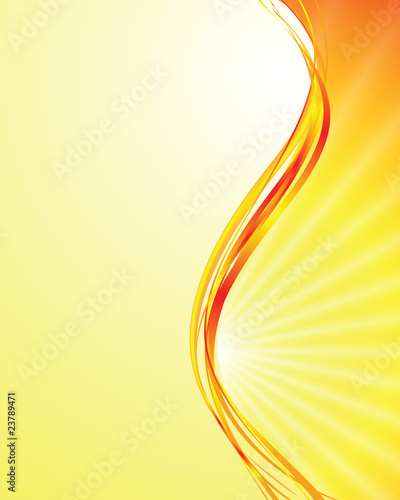 vector sun on yellow background