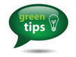 GREEN TIPS Speech Bubble Icon (recycling go environment natural)