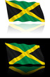 Jamaican Flag Flowing