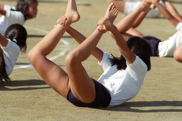 gymnastic formation at school