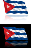 Cuban Flag Flowing