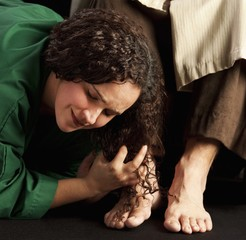 Mary Magdalene Wiping Jesus' Feet