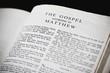 Bible Open To The Gospel According To Matthew