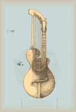 Harp guitar -music instrument