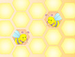 Bees in the honeycomb