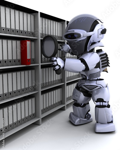 robot filing documents