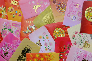 Background Of Chinese Red  Packets, Ang Pow