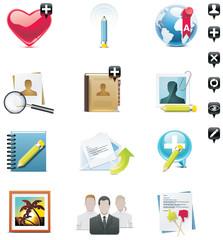 Vector social media icons set. Part 1