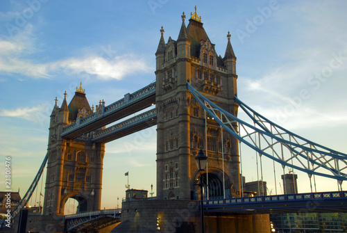 Tower Bridge at dusk, London