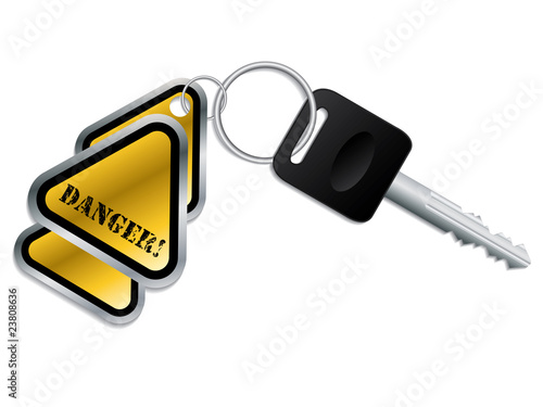 Keyholder with text chained to key