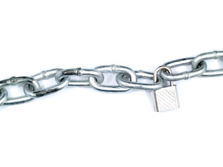 Steel Chain Isolated on a White Background