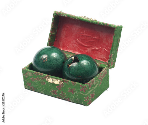 Magic balls in box isolated on the white background