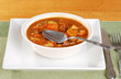 beef stew with a spoon