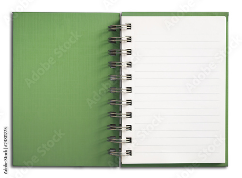 Green Notebook vertical