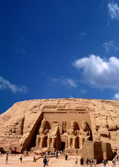 an image of Abou Simbel  in Egypt