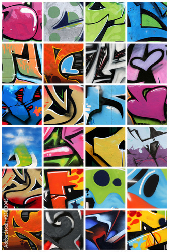 Papiers peints Graffiti collage Graffiti