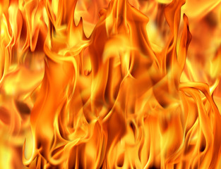 an image of an orange fire flame