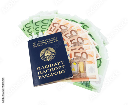 Belarusian passport with euros