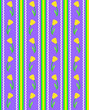 Vector Eps 8 Striped Purple Wallpaper Pattern with Yellow Tulips