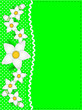 Vector Eps10 Green Copy Space, Polka Dots, Ric Rac, Wt Flowers