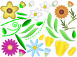 Vector Eps8 Design Your Own Flowers and Leaves with Stitches