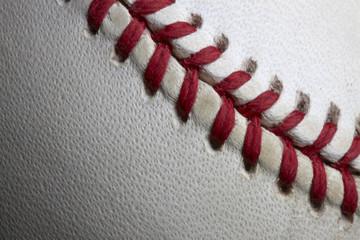 Stitches of a baseball