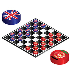 UK Afghanistan conflict played out on a checkers board
