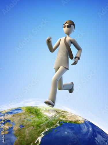 Mr. Neo walking the Earth.