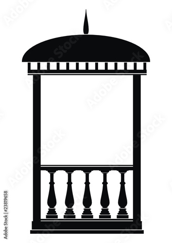 Silhouette of architectural element - Arbour (Rotunda)