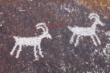 Ancient Petroglyphs in Grapevine Canyon - Nevada