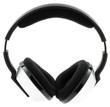 casque écouteur audio sans-fil sur fond blanc