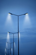 Leinwandbild Motiv an image of street light on blue sky