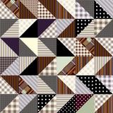 zigzag patchwork poster