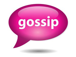 GOSSIP Speech Bubble Icon (Web Button Celebrity Stars Chat Sex)