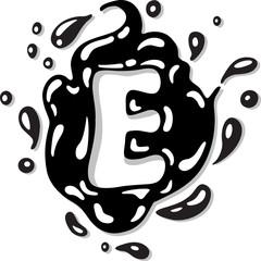 splash letter E