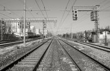 Railway perspective poster