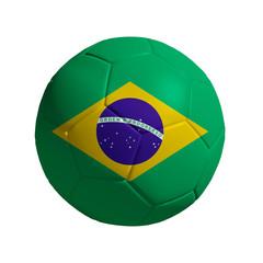 3D Ball withi Brazil  Flag