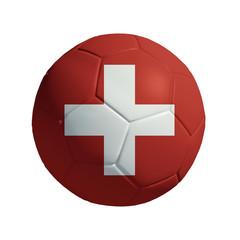 3D Ball withi Switzerland Flag