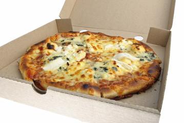 pizza cheese carton