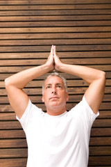 Portrait of a yoga man