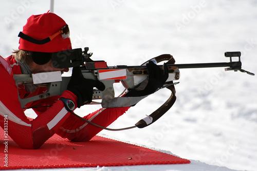 Papiers peints Glisse hiver Biathlon