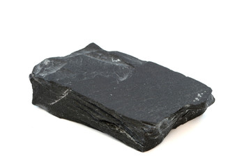 Isolated sample of Black Slate