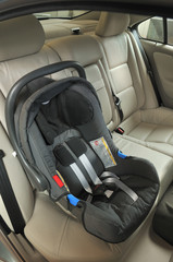 Baby car seat for safety - a series of NEW CAR images.