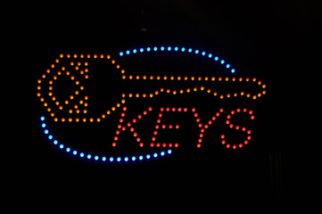 Keys Neon Light Sign