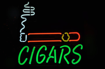 Cigars Neon Light Smoking Sign