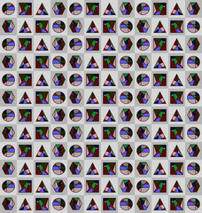 Renaissance stained glass textures