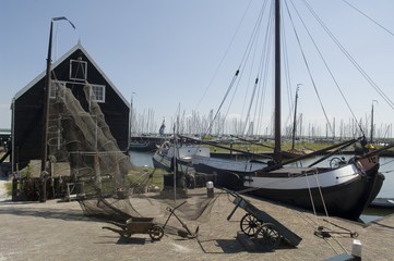 Old dutch fishing village